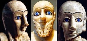 1 These blue eyed statues-sumerians
