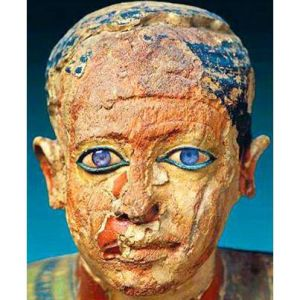 The face of the scribe Mitri 2500 BC. Egyptian Museum Cairo